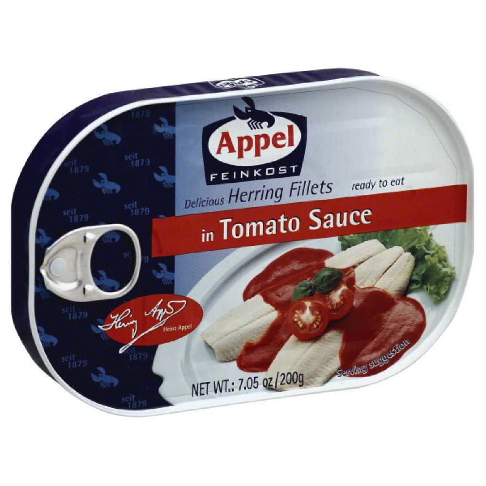Appel Herring Fillets in Tomato Sauce, 7.05 Oz (Pack of 10)