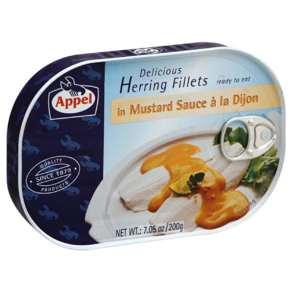 Appel Herring Fillets in Mustard Sauce a la Dijon, 7.05 Oz (Pack of 10)