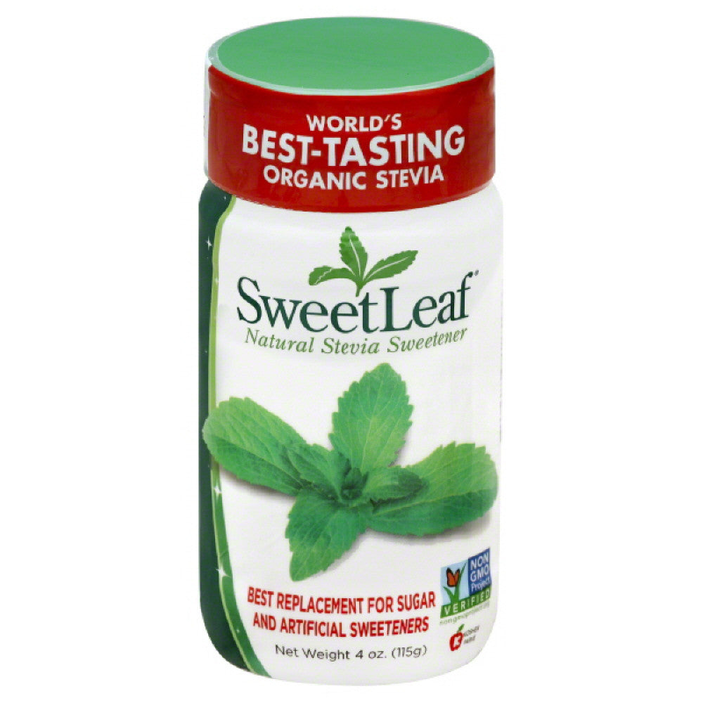 SweetLeaf Natural Stevia Sweetener, 4 Oz (Pack of 12)