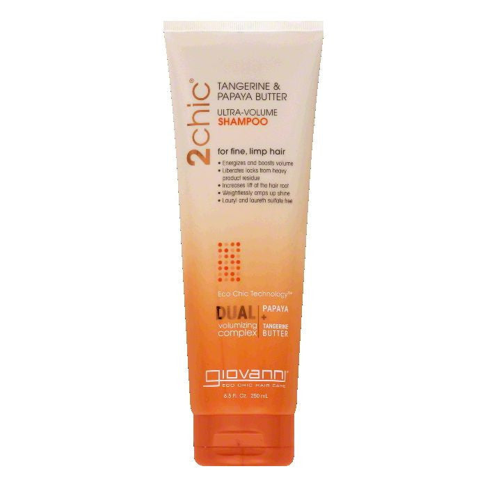Giovanni Tangerine & Papaya Butter Ultra-Volume Shampoo, 8.5 Oz