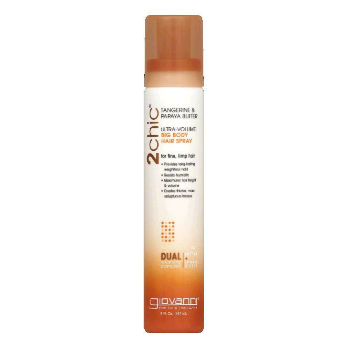 Giovanni Ultra-Volume Tangerine & Papaya Butter Big Body Hair Spray, 5 Oz