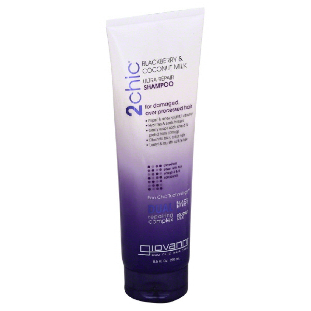 Giovanni Blackberry & Coconut Milk Ultra-Repair Shampoo, 8.5 Oz