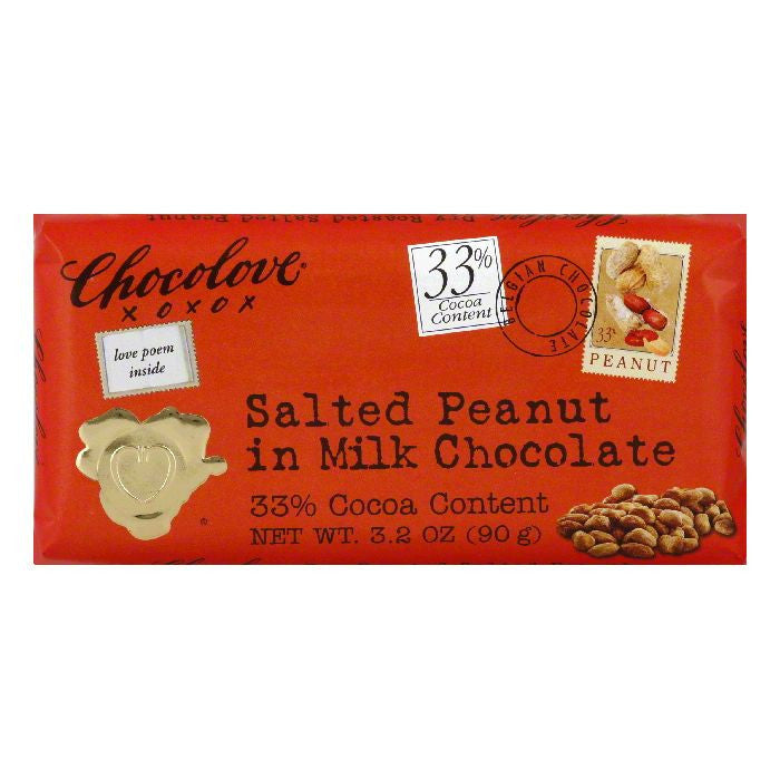 Chocolove Choc Bar Mlk Sltd Pnut, 3.2 OZ (Pack of 12)