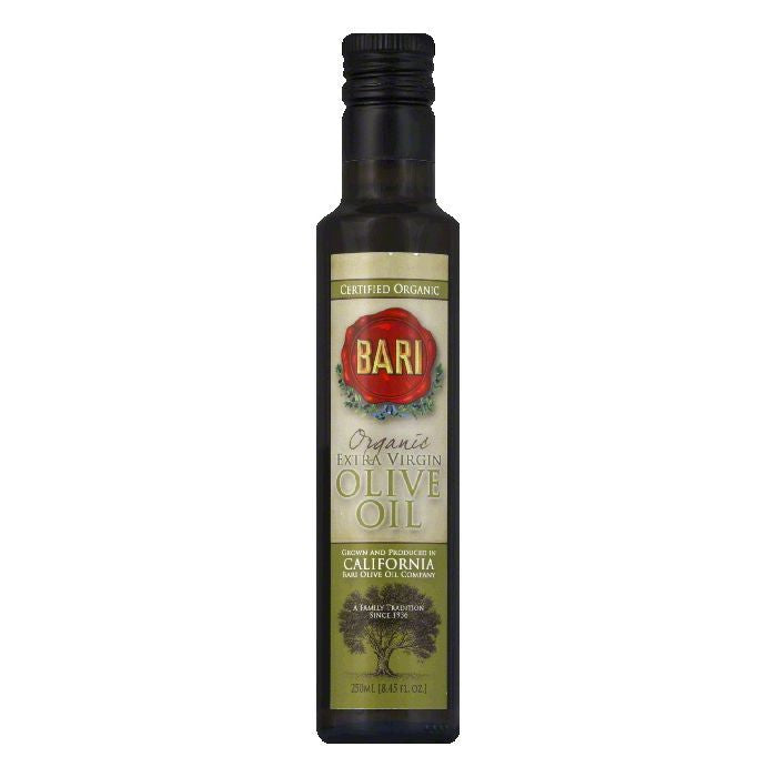 Bari Extra Virgin California Organic Olive Oil, 250 ML (Pack of 6)