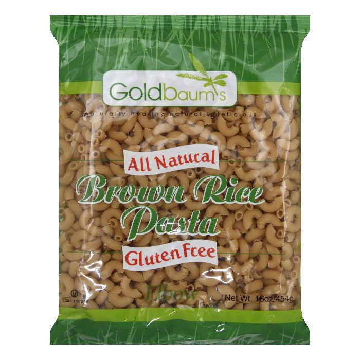 Goldbaum's Brown Rice Elbow Pasta, 16 OZ (Pack of 6)