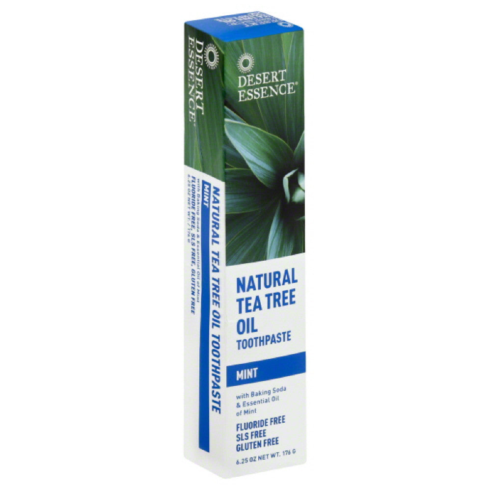 Desert Essence Mint Natural Tea Tree Oil Toothpaste, 6.25 Oz