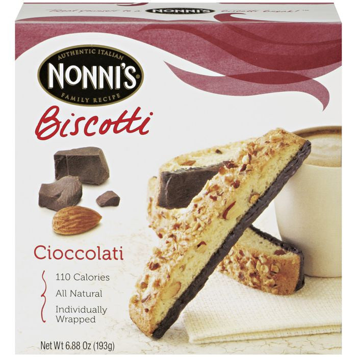 Nonni's Cioccolati Biscotti 6.88 oz  (Pack of 12)