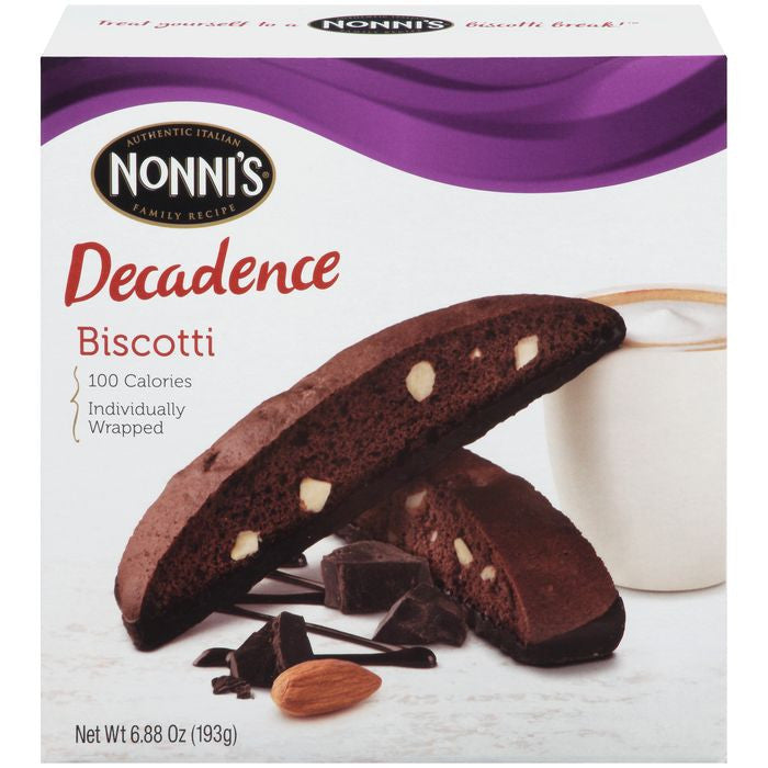 Nonni's Decadence Biscotti 6.88 Oz  (Pack of 12)