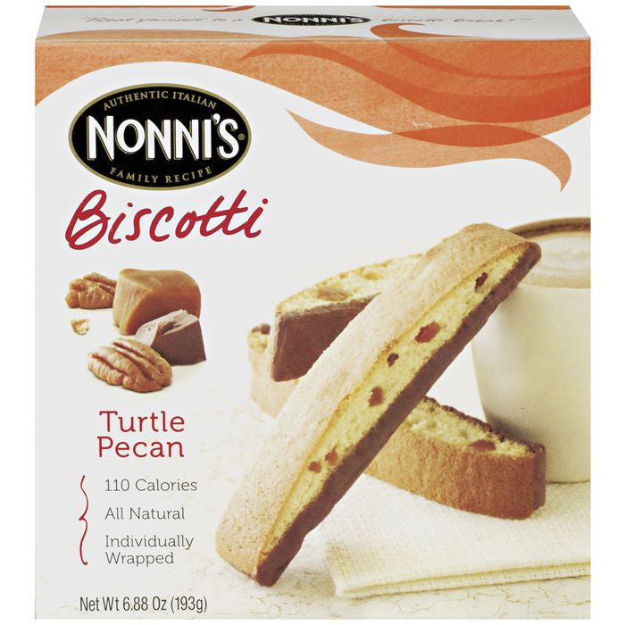 Nonni's Turtle Pe Biscotti 6.88 oz  (Pack of 12)