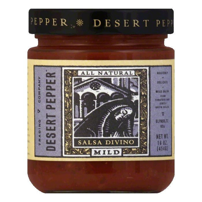 Desert Pepper Divino Salsa - Mild, 16 OZ (Pack of 6)