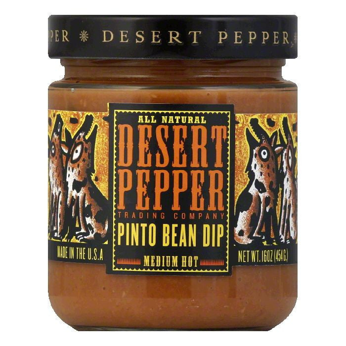 Desert Pepper Pinto Bean Dip, 16 OZ (Pack of 6)