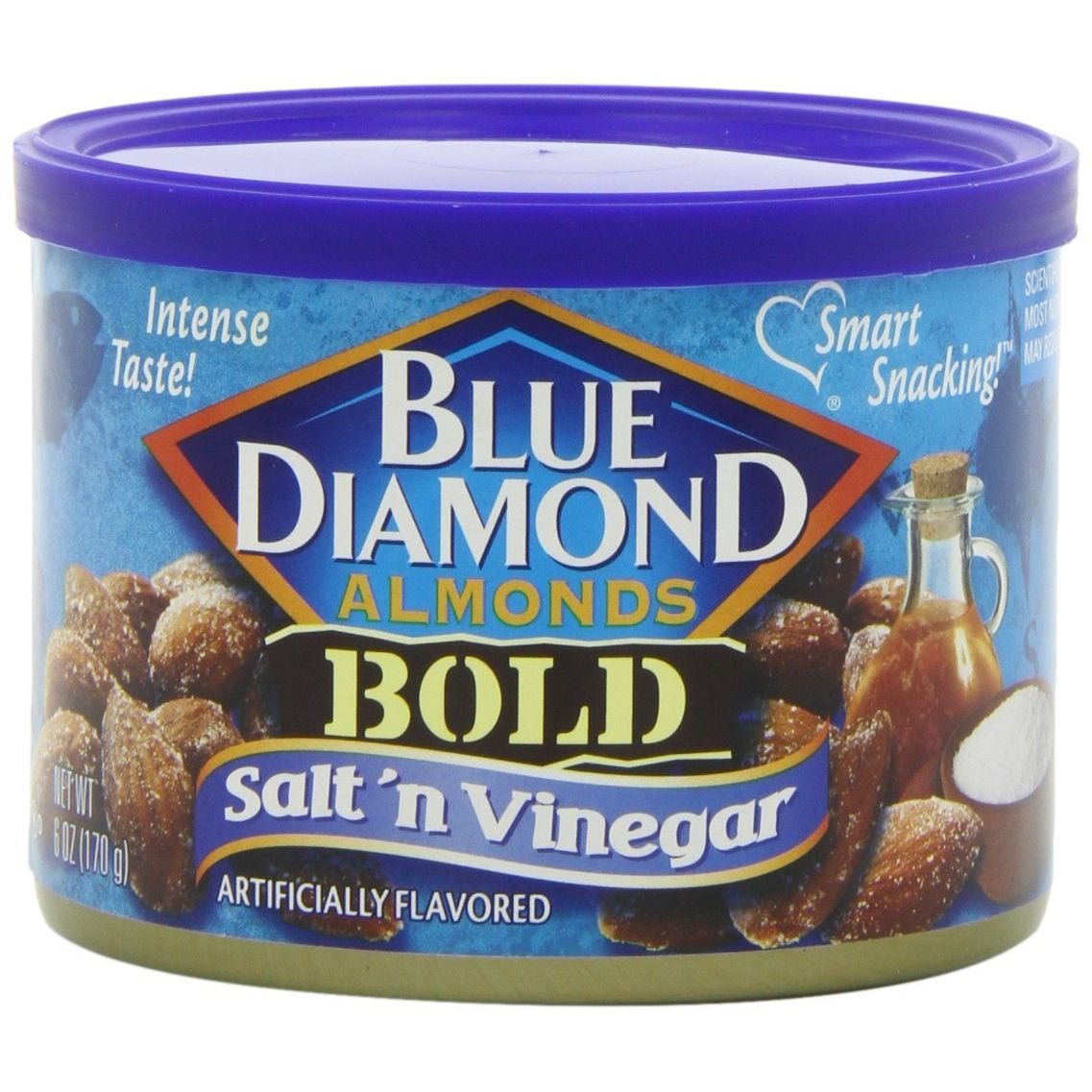 Blue Diamond Almonds Bold Salt & Vinegar, 6 Oz (Pack of 12)