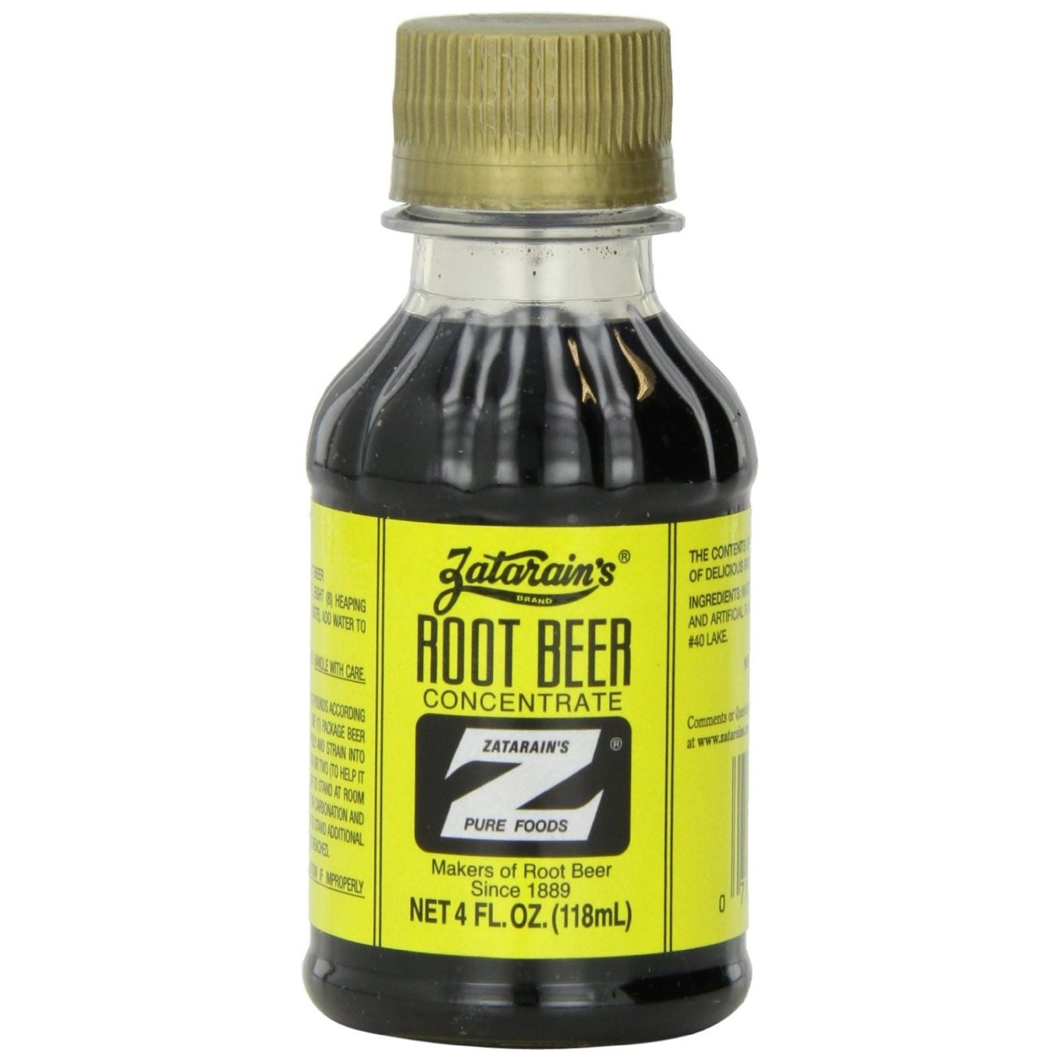 Zatarain's Root Beer Concentrate, 4 Oz (Pack of 12)