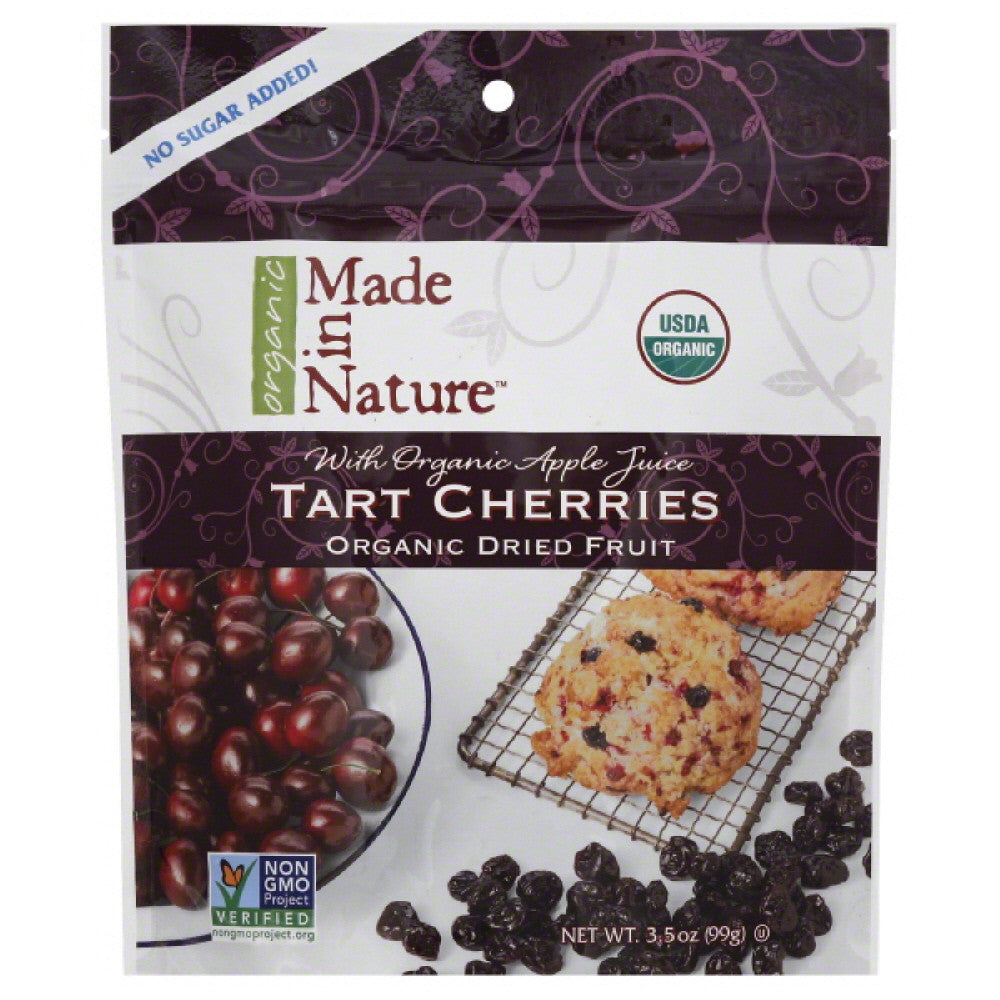 Made In Nature Organic Dried Fruit Tart Cherries, 3.5 Oz (Pack of 6)
