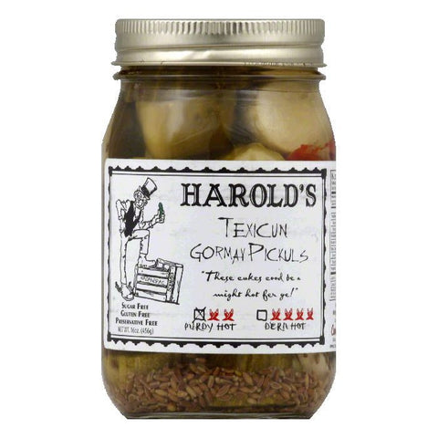 Harolds Purdy Hot Texicun Gormay Pickuls, 16 Oz (Pack of 6)