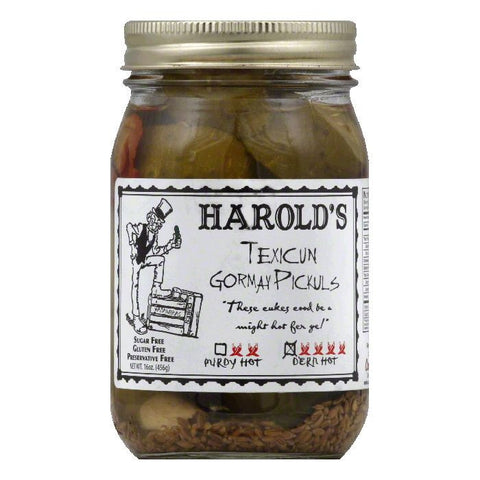 Harolds Dern Hot Texicun Gormay Pickuls, 16 Oz (Pack of 6)
