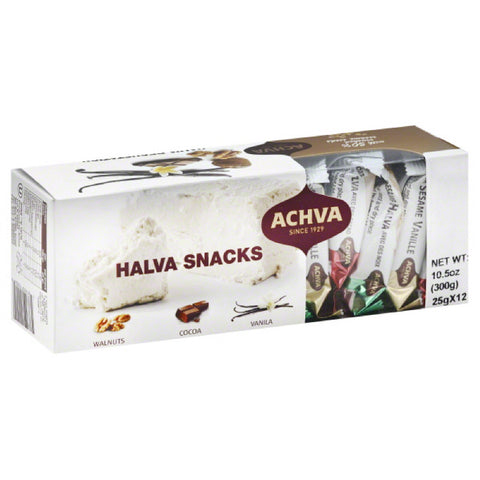 Achva Halva Snacks, 10.5 Oz (Pack of 12)