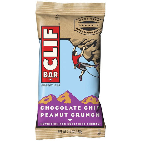 CLIF Bar Chocolate Chip Peanut Crunch Energy Bar 2.4 Oz  (Pack of 12)