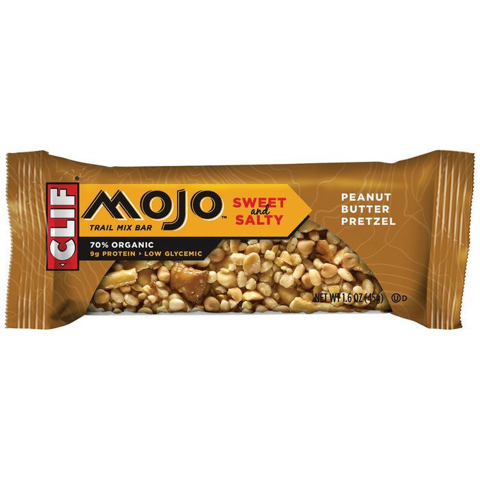 CLIF Mojo Bar Peanut Butter Pretzel Trail Mix Bar 1.6 Oz  (Pack of 12)
