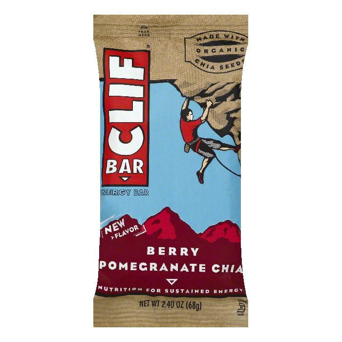 Clif Berry Pomegranate Chia Energy Bar, 2.4 OZ (Pack of 12)