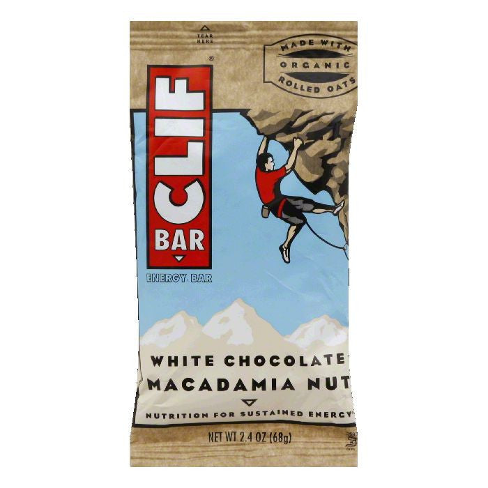 Clif Bar White Chocolate Macadamia, 2.4 OZ (Pack of 12)