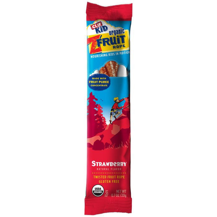 CLIF Kid ZFruit Strawberry Twisted Fruit Rope 0.7 Oz  (Pack of 18)