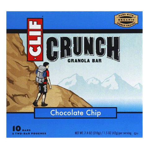 Clif Bar Granola Crunch Chocolate Chip Bar, 7.4 OZ (Pack of 12)