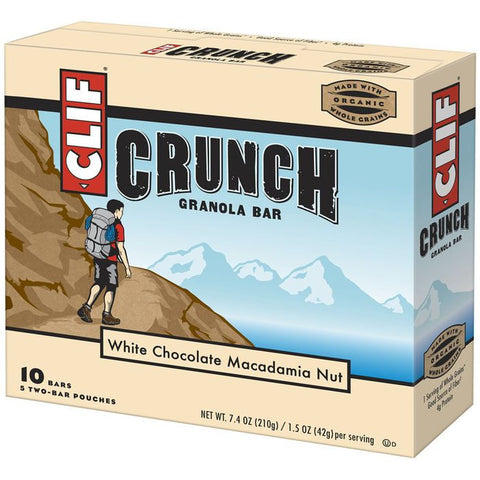 CLIF Crunch White Chocolate Macadamia Nut Granola Bars 10 ct  (Pack of 12)