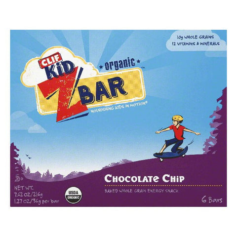 Clif Bar ZBar Chocolate Chip, 7.62 OZ (Pack of 6)