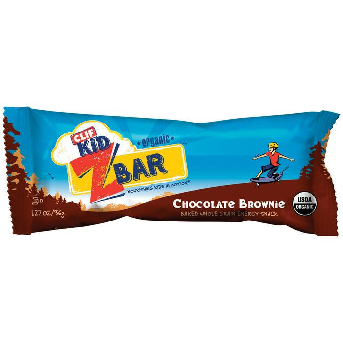 CLIF Kid ZBar Chocolate Brownie Energy Snack 1.27 Oz  (Pack of 18)
