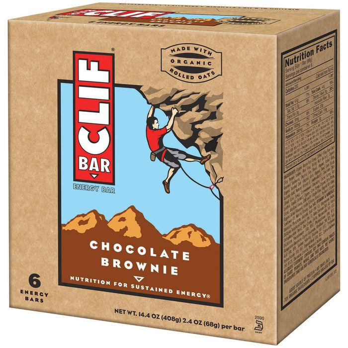 CLIF Bar Chocolate Brownie Energy Bars 6 ct  (Pack of 6)