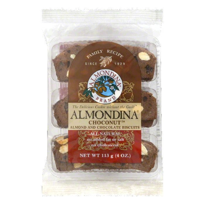 Almondina Choconut Biscuits, 4 OZ (Pack of 12)