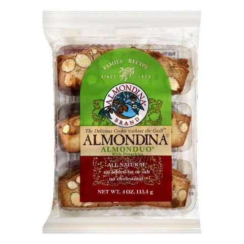 Almondina Almonduo Cookies with Pistachios, 4 OZ (Pack of 12)