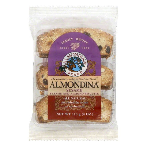 Almondina Sesame Biscuits, 4 OZ (Pack of 12)