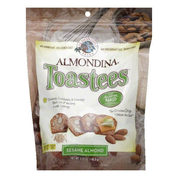 Almondina Sesame Almond Crisps, 5.25 Oz (Pack of 12)