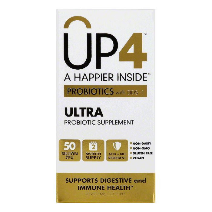 UP4 Vegetable Capsules Ultra Probiotics with DDS-1, 60 CP