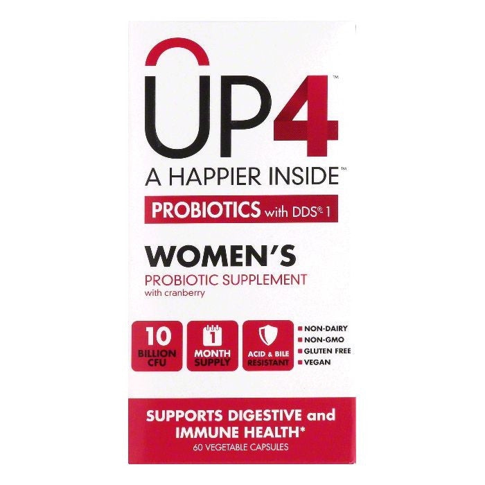 UP4 Women's with Cranberry with DDS-1 Probiotic Supplement, 60 CP
