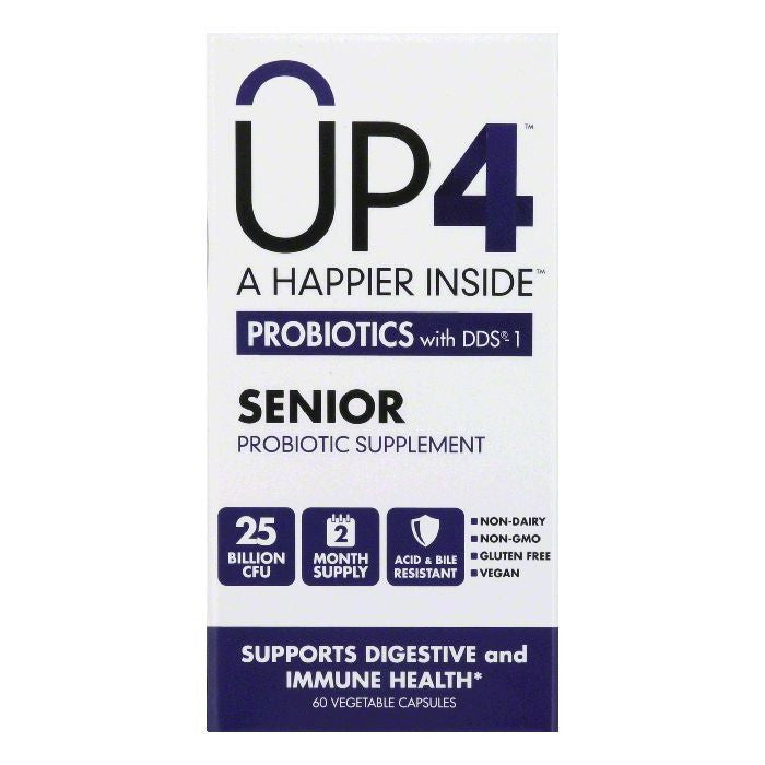 UP4 Vegetable Capsules Senior Probiotics with DDS-1, 60 CP
