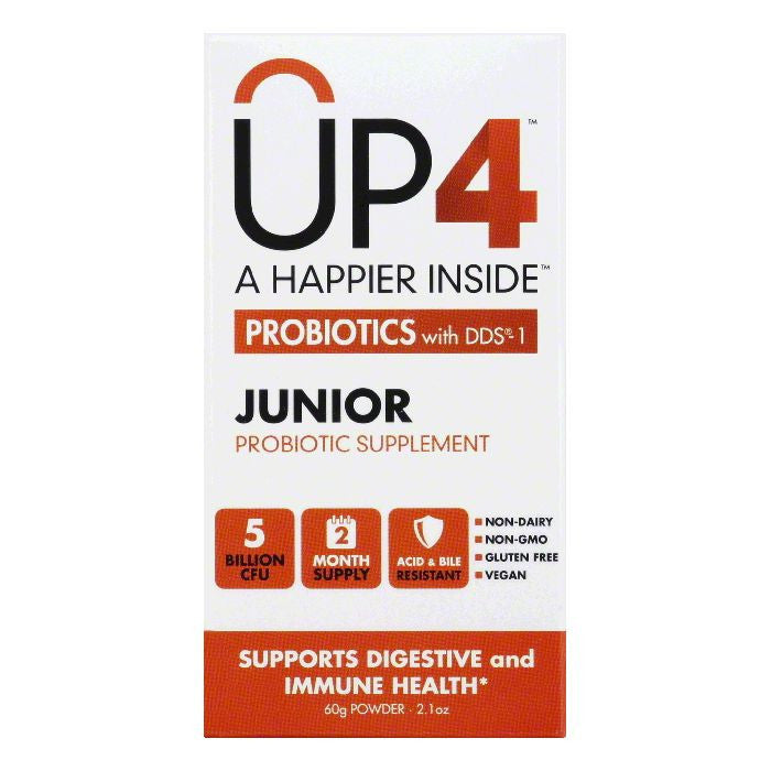 UP4 Powder Junior Probiotics with DDS-1, 2.1 Oz