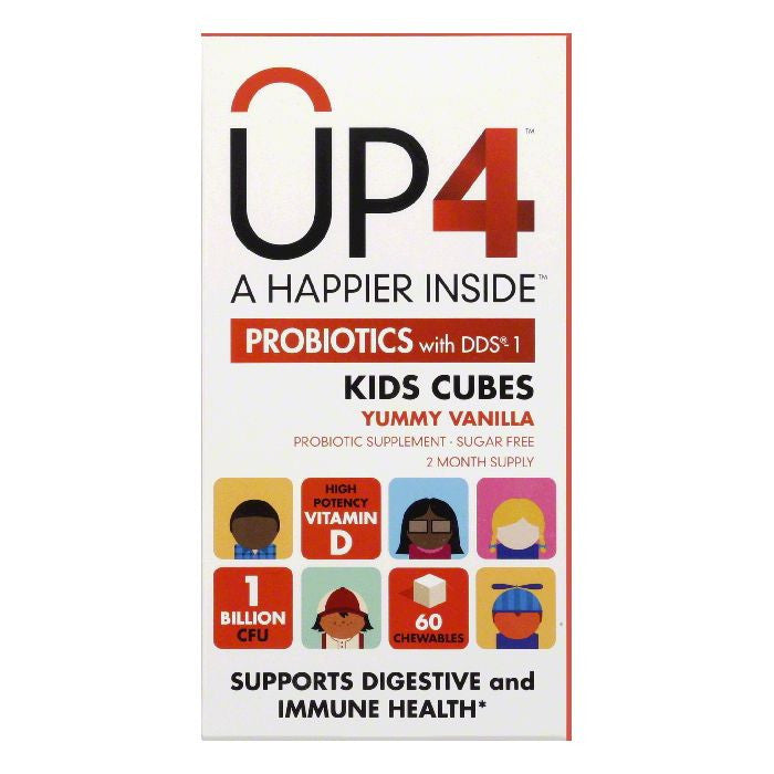 UP4 Chewables Kids Cubes Probiotics with DDS-1, 60 PC