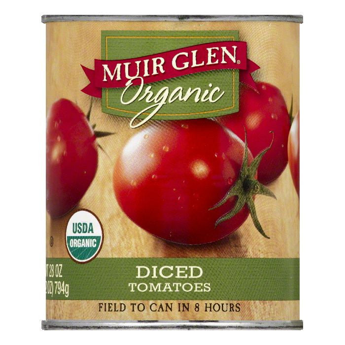 Muir Glen Diced Tomatoes, 28 OZ (Pack of 12)