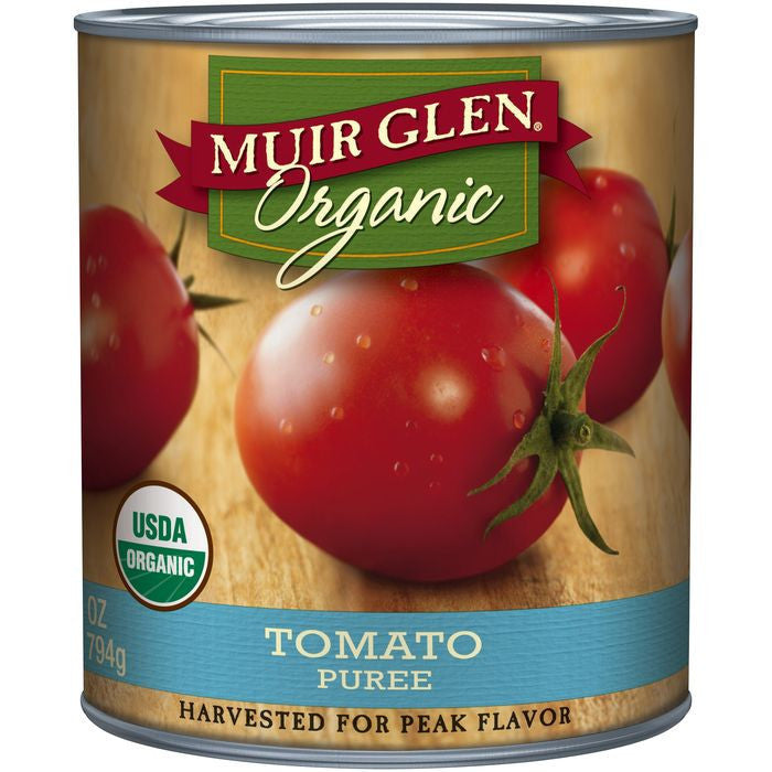 Muir Glen Organic Tomato Puree 28 Oz  (Pack of 12)