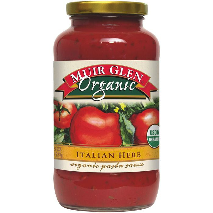 Muir Glen Organic Italian Herb Pasta Sauce 25.5 Oz  (Pack of 12)