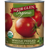 Muir Glen Organic Whole Peeled Tomatoes with Basil 28 Oz  (Pack of 6)