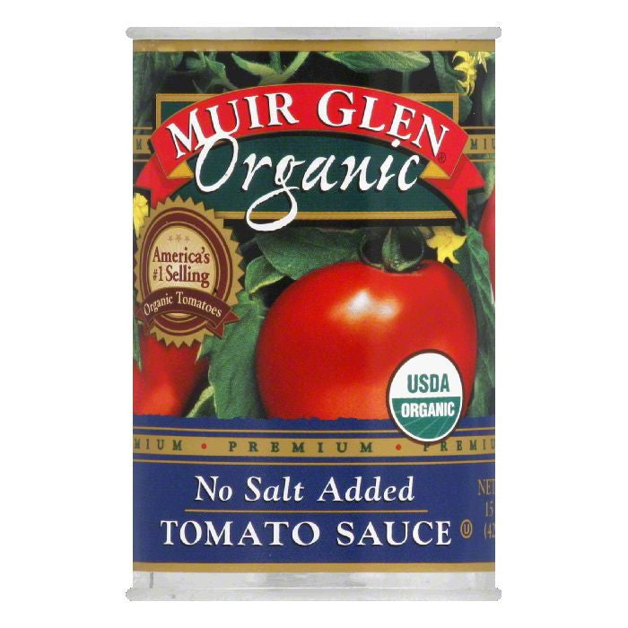 Muir Glen Tomato Sauce No Salt Added, 15 OZ (Pack of 12)