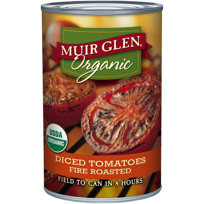 Muir Glen Organic Fire Roasted Diced Tomatoes 14.5 Oz  (Pack of 12)