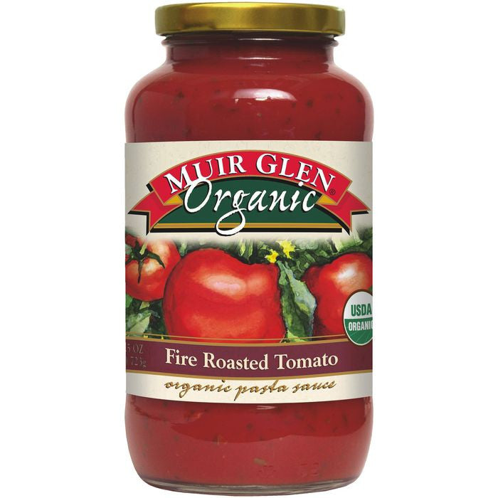 Muir Glen Organic Fire Roasted Tomato Pasta Sauce 25.5 Oz  (Pack of 12)