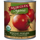 Muir Glen Organic Whole Peeled Plum Tomatoes 28 Oz  (Pack of 12)