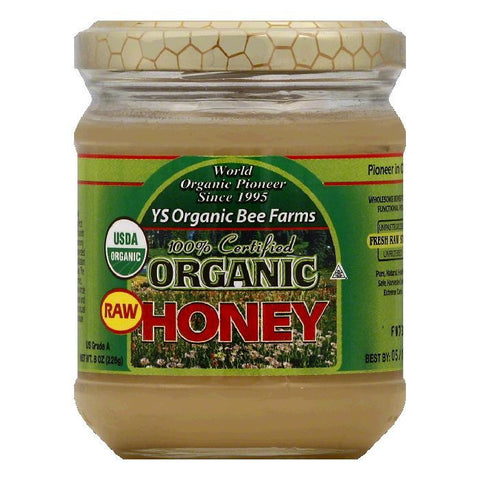 YS Organic Bee Farms Organic Raw Honey, 8 OZ (Pack of 6)