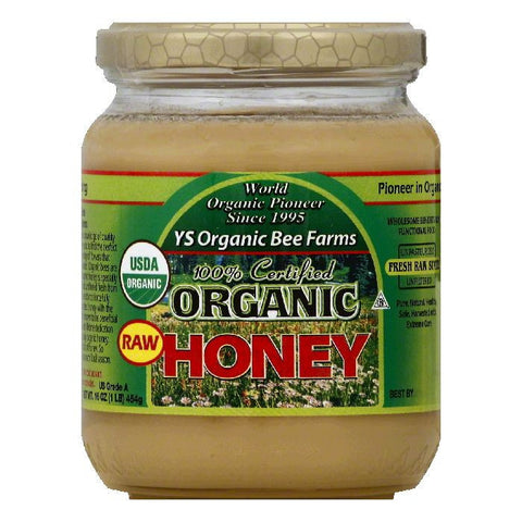 YS Organic Bee Farms Raw Honey, 16 OZ (Pack of 6)